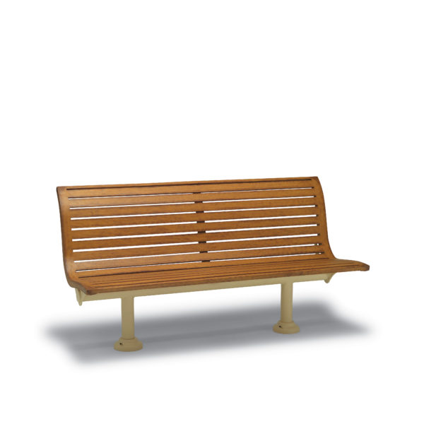 6′ Outdoor Bench with Back, without Arms – Burns Harbor Collection