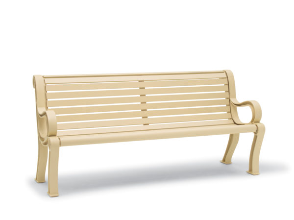 Outdoor Bench with Back - Butler Collection - Portable/Surface Mount