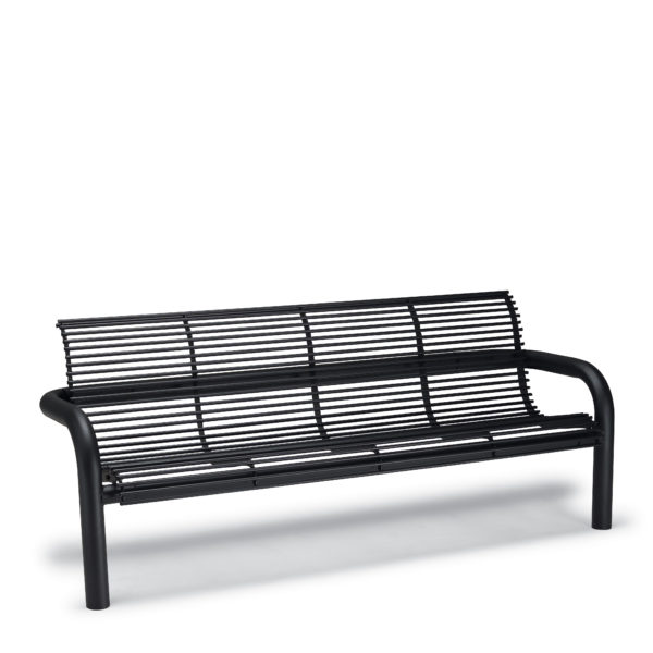 6' Outdoor Bench with Back, with Arms - Camden Collection - Inground