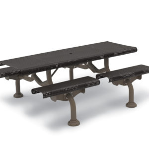 7' Rectangular Patio Picnic Table - Camden Collection - Portable/Surface Mount or Inground