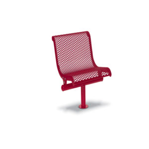 Single Straight Outdoor Bench Seat with Back - City Limits Series