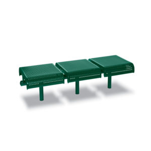 3-Seat Straight Outdoor Bench without Back - City Limits Series