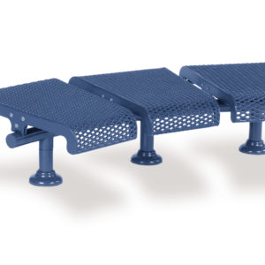 Concave Outdoor Bench - Convex Outdoor Bench - 15 Degree 3-Seat without Back - City Limits Series