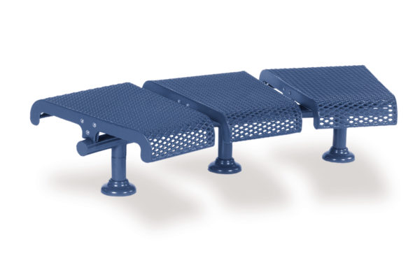 Concave Outdoor Bench – Convex Outdoor Bench – 15 Degree 3-Seat without Back – City Limits Series