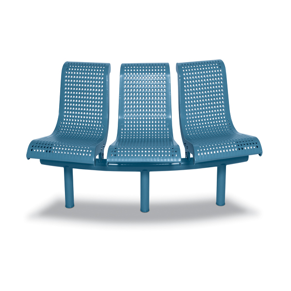 15 Degree Convex 3-Seat with Back Outdoor Bench – City Limits Series