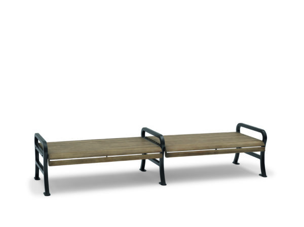 8 foot Outdoor Bench without Back - Covington Collection - Portable/Surface Mount