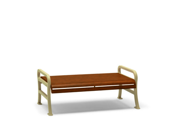 4 foot & 6 foot Outdoor Benches without Back - Covington Collection - Portable/Surface Mount