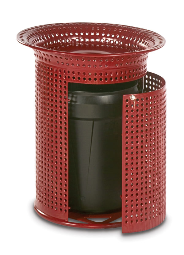 32 Gallon Outdoor Trash Receptacle - Flare Top - Classic Collection