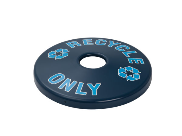 Outdoor Trash Receptacle Lid - 22 or 32 Gallon Receptacle Lid - Recycle Lids - Classic Collection Accessory