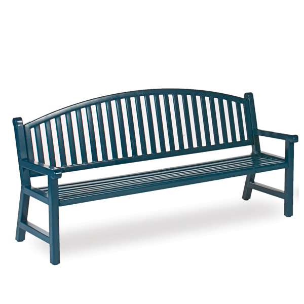 6′ Mission Arch Back Outdoor Bench – Classic Series
