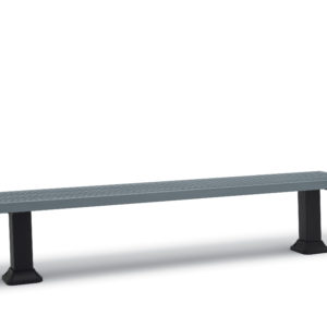7 foot Outdoor Bench without Back, without Arms - Kentland Collection - Surface Mount or Inground