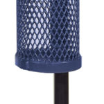10 Gallon Pole Mount Outdoor Trash Receptacle - Classic Collection