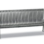 6 foot Bench with Back, with Arms - Oxford Collection