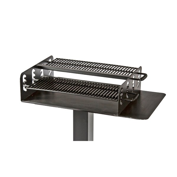 Grill-36×28 Cooking Area w/ two grates and side shelf – SM