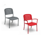 Arm Chair - Slat Pattern Outdoor Bench/Dining Chair with or without arms - Hanna Collection