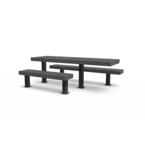 8' ADA Side by Side Picnic Table - Designer Series