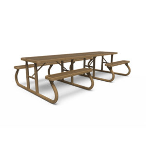 10' ADA Side by Side Picnic Table - Signature Series - Portable