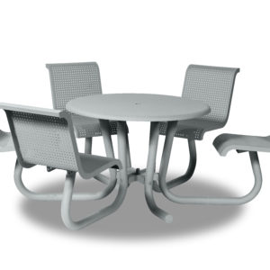 42 inch ADA Accessible Outdoor Table/Picnic Table with Attached Seating - Portage Collection