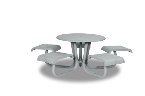 42 inch Outdoor Table/Picnic Table with Attached Seating - Portage Collection