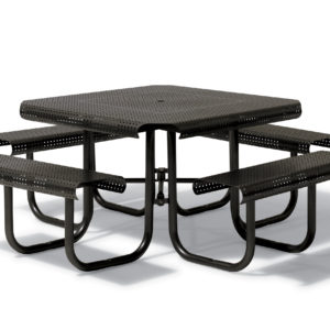 46 inch Square Picnic Table with 4 Seats - Portage Collection - Portable/Surface Mount