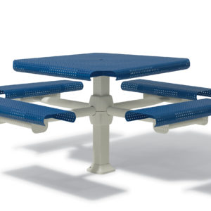 46 inch Square Picnic Table with 4 Seats - Portage Collection - Inground