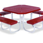46 inch Octagon Picnic Table - Prestige Series - Portable