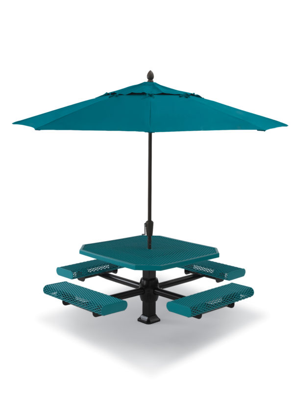 46 inch Octagon Picnic Table - 4 Seats - Superior Frame - Prestige Series - Inground
