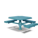 46 inch Octagon ADA Accessible Picnic Table - 3 Seats - Superior Frame - Prestige Series - Inground