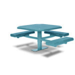 46 inch Octagon ADA Accessible Picnic Table - 3 Seats - Basic Frame - Prestige Series - Inground or Surface Mount