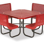 46 inch Octagon Picnic Table with back - Prestige Series - Portable