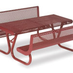 4 foot & 6 foot Picnic Tables with Back - Prestige Series - Portable