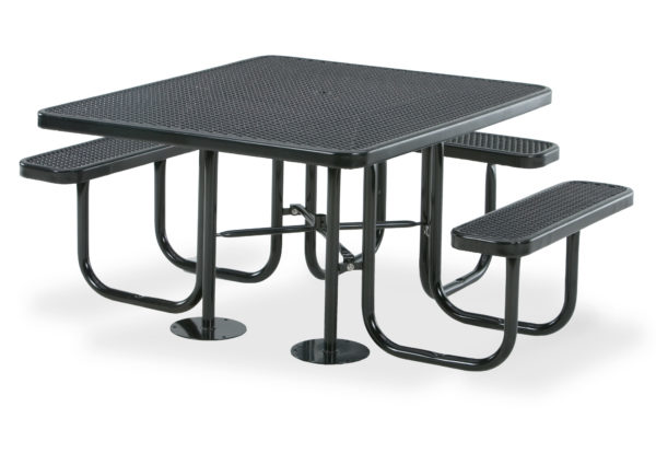 46 inch x 55 inch Square - ADA Accessible 3- Seat Picnic Table - Signature Series - Portable