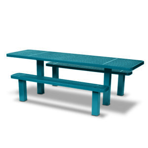 Picnic Table 8 foot ADA Accessible Table Multi Pedestal - Signature Series - Inground