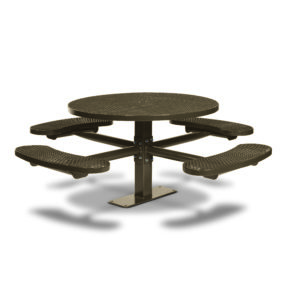 46 inch Round Pedestal Picnic Tables with 4 Seats - Basic Frame - Signature Series - Inground or Surface Mount