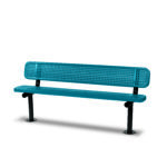 "6 foot and 8 foot Outdoor Benches with back - 10"" Wide Seats - Signature Series"