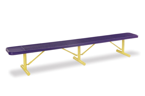10 foot and 15 foot Player Outdoor Benches without back – 15″ Wide Seats – Signature Series