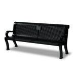 Outdoor Memorial 6 foot Estate Bench with plaque - Specialty Series