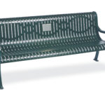 Outdoor Memorial 6 foot Courtyard Bench with plaque - Specialty Series