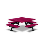 Children's 46 inch Square Picnic Table - Spyder Series - Portable/Surface Mount