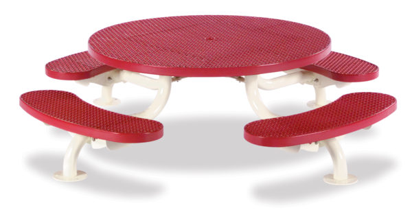 Children's 46 inch Round Picnic Table - Spyder Series - Portable/Surface Mount