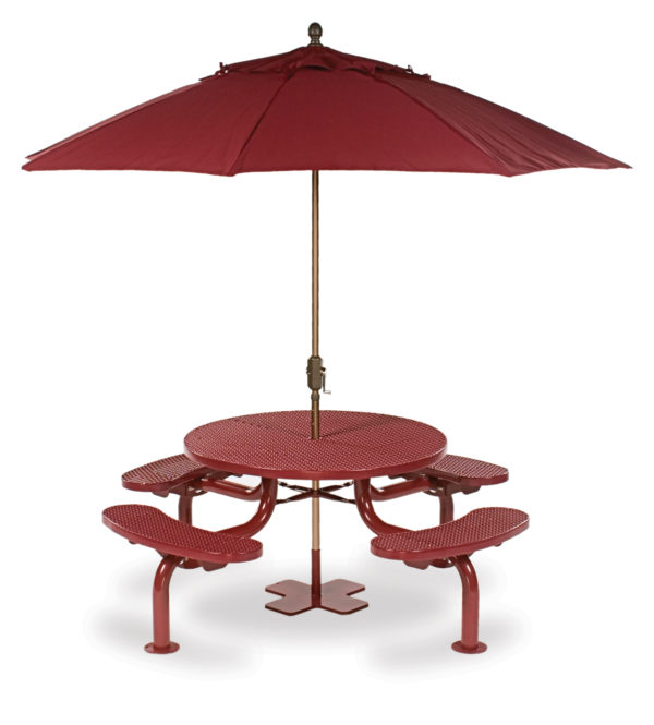 46 inch Round Picnic Table – Spyder Series – Portable/Surface Mount or Inground