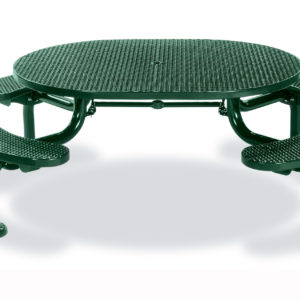 ADA Accessible Round Picnic Table with 4 seats - Spyder Series - Portable/Surface Mount or Inground