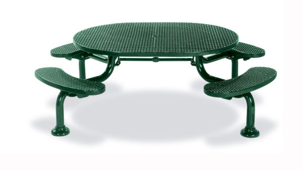 ADA Accessible Round Picnic Table with 4 seats – Spyder Series – Portable/Surface Mount or Inground