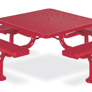46 inch Square Picnic Table - Spyder Series - Portable/Surface Mount or Inground