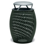 "Elegance - ""A"" Style 32 Gallon Outdoor Trash Receptacle with Liner"