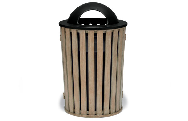 "Elegance - ""FG"" Style 32 Gallon Outdoor Trash Receptacle with Liner"