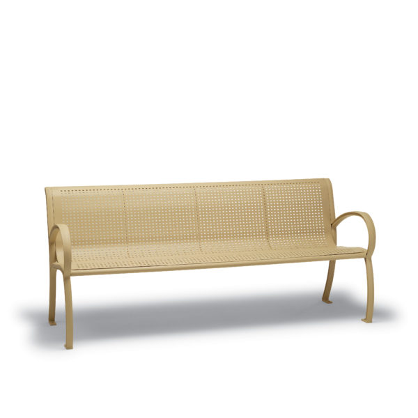 4' and 6' Outdoor Benches with Back, with Arms - Winchester Collection - Portable/Surface Mount