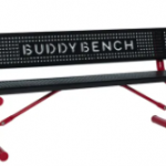 Black and maroon buddy bench