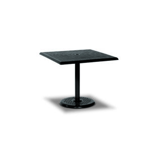 36 x 36 Square Pedestal Outdoor Table Square Perforated - Table Only - Camino Series