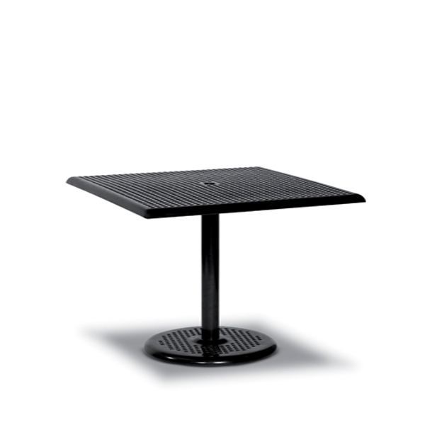 36 x 36 Square Pedestal Outdoor Table Square Perforated – Table Only – Camino Series